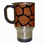 SKIN1 BLACK MARBLE & RUSTED METAL (R) Travel Mugs (White) Left