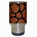 SKIN1 BLACK MARBLE & RUSTED METAL (R) Travel Mugs (White) Center