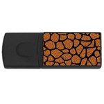 SKIN1 BLACK MARBLE & RUSTED METAL (R) Rectangular USB Flash Drive Front