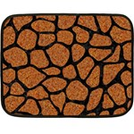 SKIN1 BLACK MARBLE & RUSTED METAL (R) Double Sided Fleece Blanket (Mini)  35 x27 Blanket Front
