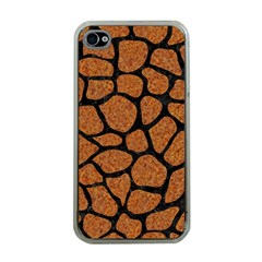 Skin1 Black Marble & Rusted Metal (r) Apple Iphone 4 Case (clear) by trendistuff
