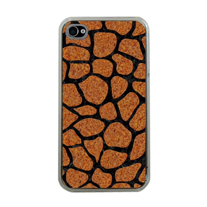SKIN1 BLACK MARBLE & RUSTED METAL (R) Apple iPhone 4 Case (Clear)