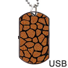 Skin1 Black Marble & Rusted Metal (r) Dog Tag Usb Flash (one Side) by trendistuff
