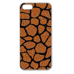 Skin1 Black Marble & Rusted Metal (r) Apple Seamless Iphone 5 Case (clear) by trendistuff