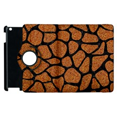 Skin1 Black Marble & Rusted Metal (r) Apple Ipad 2 Flip 360 Case by trendistuff