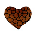 SKIN1 BLACK MARBLE & RUSTED METAL (R) Standard 16  Premium Heart Shape Cushions Front