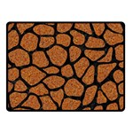 SKIN1 BLACK MARBLE & RUSTED METAL (R) Double Sided Fleece Blanket (Small)  45 x34 Blanket Front