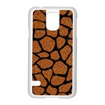 SKIN1 BLACK MARBLE & RUSTED METAL (R) Samsung Galaxy S5 Case (White) Front