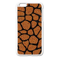 Skin1 Black Marble & Rusted Metal (r) Apple Iphone 6 Plus/6s Plus Enamel White Case by trendistuff