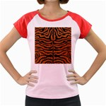 SKIN2 BLACK MARBLE & RUSTED METAL Women s Cap Sleeve T-Shirt Front