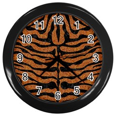 Skin2 Black Marble & Rusted Metal Wall Clocks (black) by trendistuff