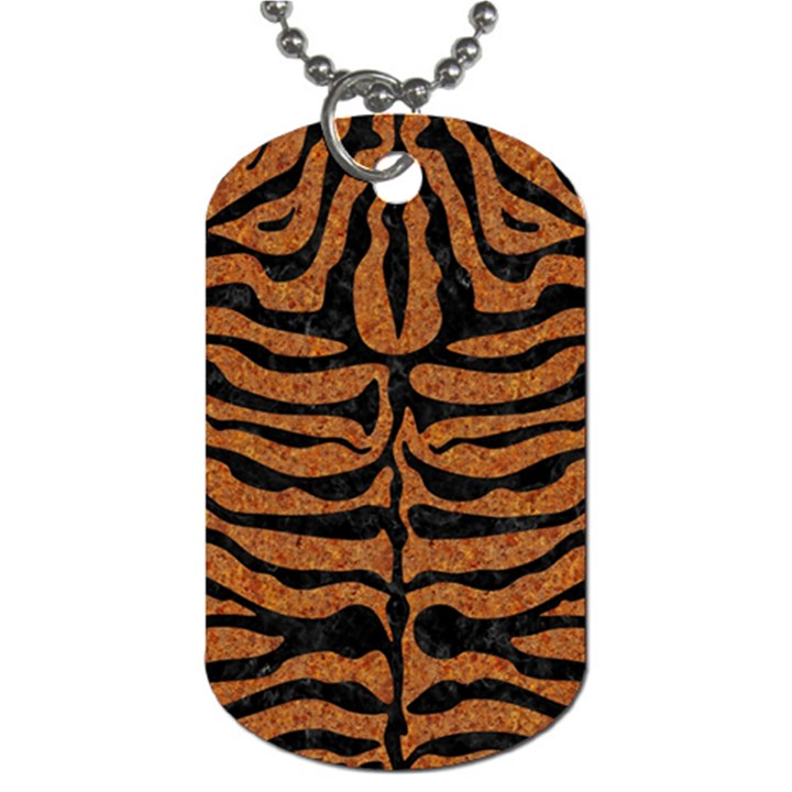 SKIN2 BLACK MARBLE & RUSTED METAL Dog Tag (Two Sides)