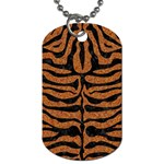 SKIN2 BLACK MARBLE & RUSTED METAL Dog Tag (Two Sides) Back