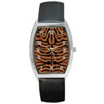 SKIN2 BLACK MARBLE & RUSTED METAL Barrel Style Metal Watch Front
