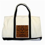 SKIN2 BLACK MARBLE & RUSTED METAL Two Tone Tote Bag Front