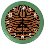 SKIN2 BLACK MARBLE & RUSTED METAL Color Wall Clocks Front