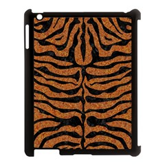 Skin2 Black Marble & Rusted Metal Apple Ipad 3/4 Case (black) by trendistuff