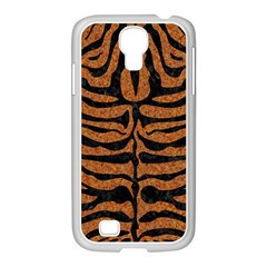 Skin2 Black Marble & Rusted Metal Samsung Galaxy S4 I9500/ I9505 Case (white) by trendistuff