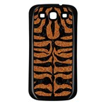 SKIN2 BLACK MARBLE & RUSTED METAL Samsung Galaxy S3 Back Case (Black) Front