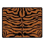 SKIN2 BLACK MARBLE & RUSTED METAL Double Sided Fleece Blanket (Small)  45 x34 Blanket Back