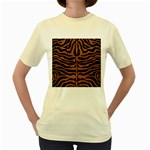 SKIN2 BLACK MARBLE & RUSTED METAL (R) Women s Yellow T-Shirt Front