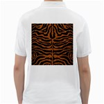 SKIN2 BLACK MARBLE & RUSTED METAL (R) Golf Shirts Back