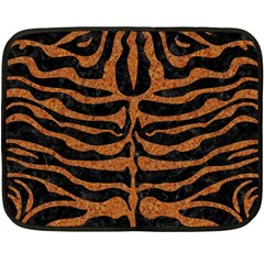 Skin2 Black Marble & Rusted Metal (r) Fleece Blanket (mini)