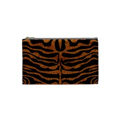 Skin2 Black Marble & Rusted Metal (r) Cosmetic Bag (small)  by trendistuff