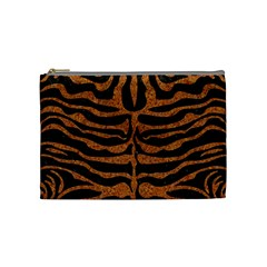 Skin2 Black Marble & Rusted Metal (r) Cosmetic Bag (medium)  by trendistuff