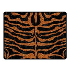 Skin2 Black Marble & Rusted Metal (r) Fleece Blanket (small) by trendistuff