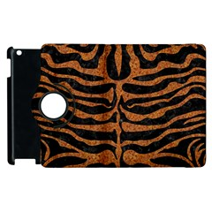 Skin2 Black Marble & Rusted Metal (r) Apple Ipad 2 Flip 360 Case by trendistuff