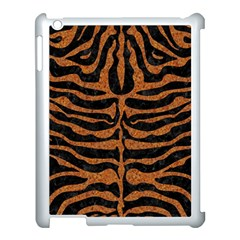 Skin2 Black Marble & Rusted Metal (r) Apple Ipad 3/4 Case (white) by trendistuff