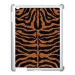 SKIN2 BLACK MARBLE & RUSTED METAL (R) Apple iPad 3/4 Case (White) Front