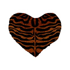 Skin2 Black Marble & Rusted Metal (r) Standard 16  Premium Heart Shape Cushions by trendistuff