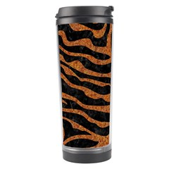 Skin2 Black Marble & Rusted Metal (r) Travel Tumbler by trendistuff