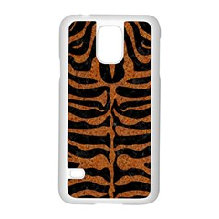 Skin2 Black Marble & Rusted Metal (r) Samsung Galaxy S5 Case (white) by trendistuff