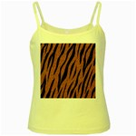 SKIN3 BLACK MARBLE & RUSTED METAL Yellow Spaghetti Tank Front