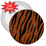 SKIN3 BLACK MARBLE & RUSTED METAL 3  Buttons (100 pack)  Front