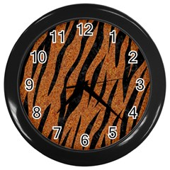 Skin3 Black Marble & Rusted Metal Wall Clocks (black) by trendistuff