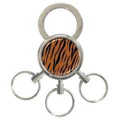 Skin3 Black Marble & Rusted Metal 3 Ring Key Chains by trendistuff