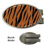 SKIN3 BLACK MARBLE & RUSTED METAL Money Clips (Oval)  Front