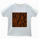 SKIN3 BLACK MARBLE & RUSTED METAL Kids White T-Shirts Front