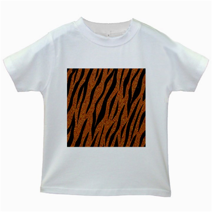 SKIN3 BLACK MARBLE & RUSTED METAL Kids White T-Shirts