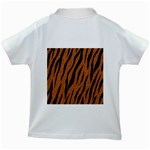 SKIN3 BLACK MARBLE & RUSTED METAL Kids White T-Shirts Back