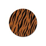 SKIN3 BLACK MARBLE & RUSTED METAL Magnet 3  (Round) Front