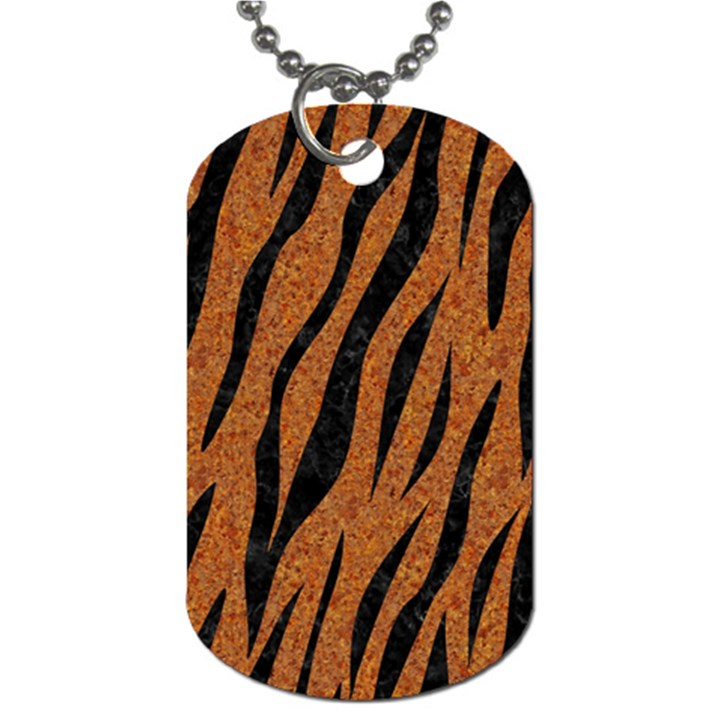 SKIN3 BLACK MARBLE & RUSTED METAL Dog Tag (Two Sides)