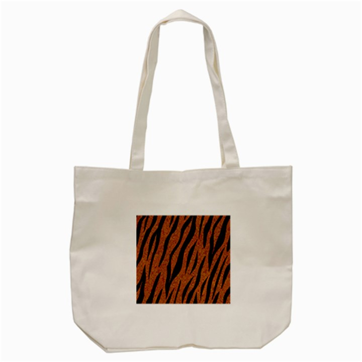 SKIN3 BLACK MARBLE & RUSTED METAL Tote Bag (Cream)