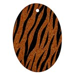 SKIN3 BLACK MARBLE & RUSTED METAL Oval Ornament (Two Sides) Front
