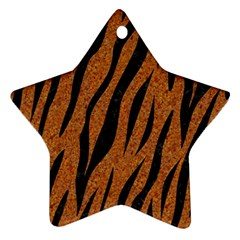 Skin3 Black Marble & Rusted Metal Star Ornament (two Sides) by trendistuff