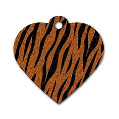 Skin3 Black Marble & Rusted Metal Dog Tag Heart (two Sides) by trendistuff
